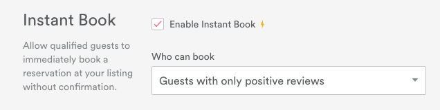 You can allow only guests who have had positive reviews from other hosts to book instantly